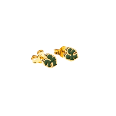 Selva Sauvage oorbellen monastera leaf