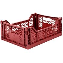 Opvouwbaar kratje Midi Tile Red