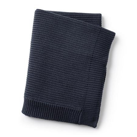Elodie Details Gebreid deken wol Juniper Blue