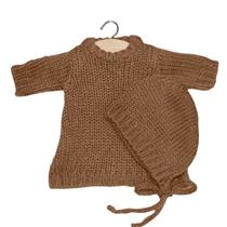 Ensemble Gasparine en laine taupe