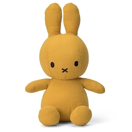 Nijntje - Miffy Nijntje knuffel Mousseline Yellow 23cm