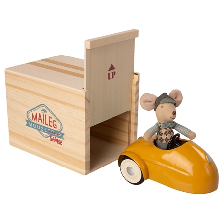 Maileg Mouse car garage Yellow