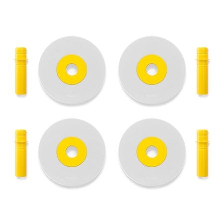 Modu Foam Wheels Yellow