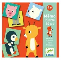 Memorie Puzzel dieren (+3j)