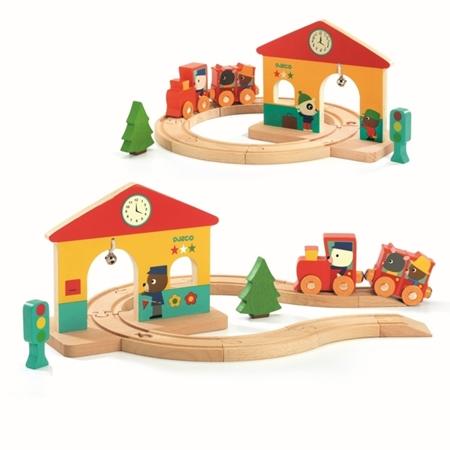 Djeco Houten Mini trein