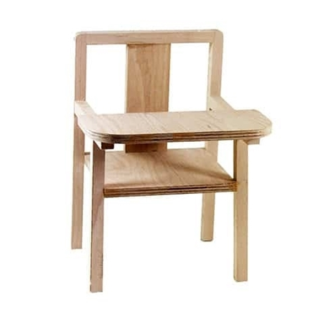 Minikane - Paola Reina Poppen eetstoel hout