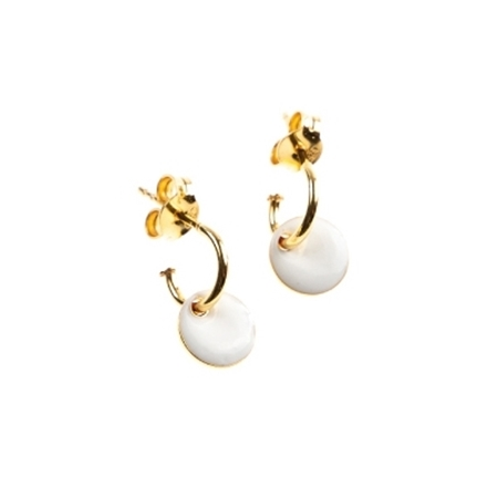 Selva Sauvage oorbellen Hoops White