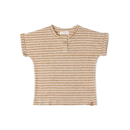 Nixnut T-shirt Caramel Stripe