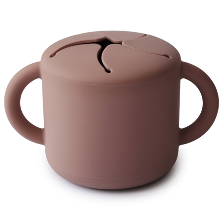 Mushie Snack cup Mauve