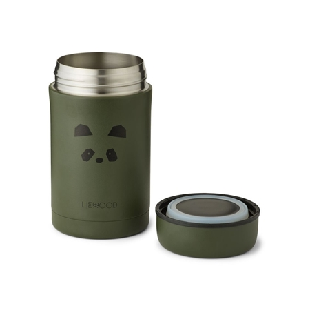 Liewood Bernard Food jar Panda Hunter green