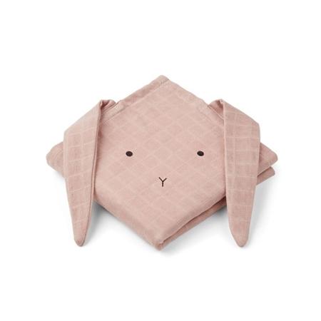 Liewood Hannah hydrofiele doeken Rabbit Rose 70x70cm