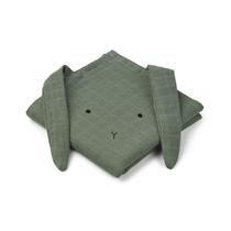 Hannah hydrofiele doeken Rabbit Faune Green 70x70cm