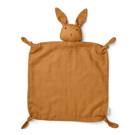 Liewood Agnete Knuffeldoekje Rabbit Mustard