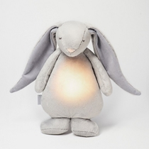 Moonie Knuffel Hartslag en Licht Rabbit Friend Silver