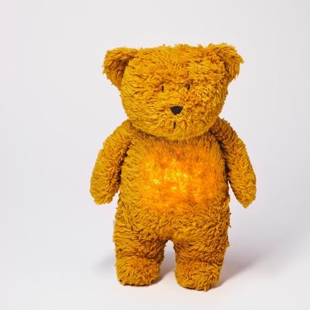 Moonie Knuffel Hartslag en Licht - Bear Mustard