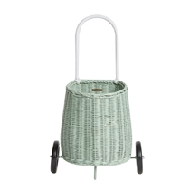 Rieten Luggy trolley mint