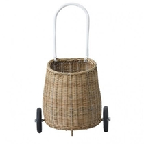 Rieten Luggy trolley Naturel Medium
