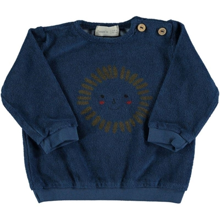 Beans Barcelona Gull Sun Terry Sweatshirt Blue