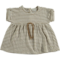 Shark Striped Dress Camel