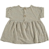 Beans Barcelona Shark Striped Dress Camel