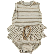 Striped Linnen Body Camel