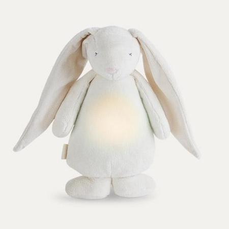 Moonie Knuffel Hartslag en Licht Rabbit Friend Cream
